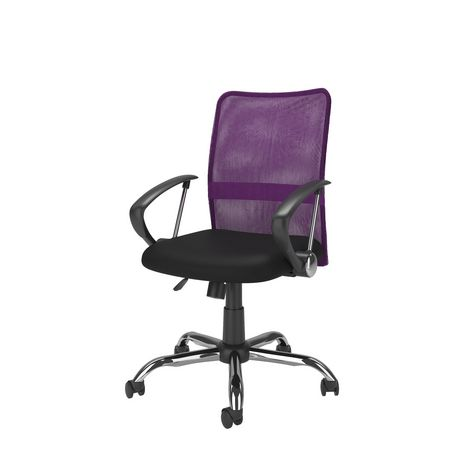 Corliving Workspace Contoured Purple Mesh Back Office