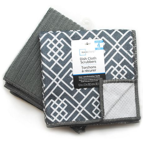 Mainstays Grey Dish Cloth Scrubbers - image 1 of 1