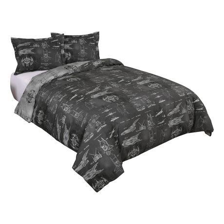 Housse de couette architecture de batman pour lit 2 places grand lit - Housse de couette grand lit ...