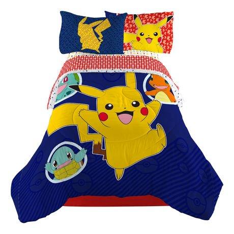 couette pika pika pikachu de pok mon pour lit 1 place 2 places walmart canada. Black Bedroom Furniture Sets. Home Design Ideas