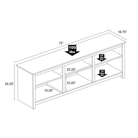 Prepac Sonoma 72 Inch TV Stand, Black - image 5 of 6