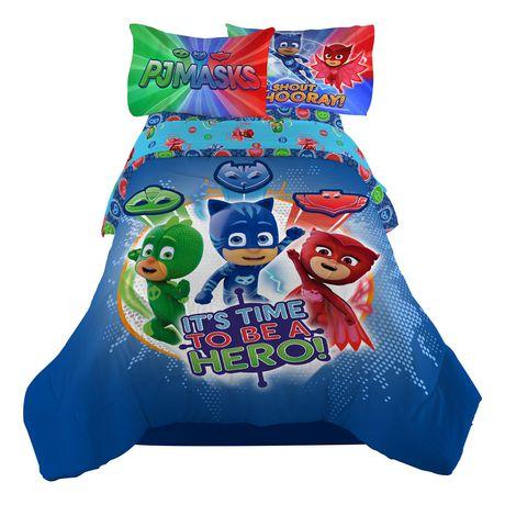 pj masks 39 it 39 s hero time comforter walmart canada. Black Bedroom Furniture Sets. Home Design Ideas