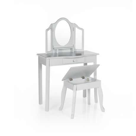Guidecraft Grey Classic Vanity And Stool Walmart Canada
