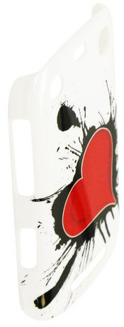 Exian Case for Blackberry Curve 9360 - Heart on Ink Design - image 2 of 2