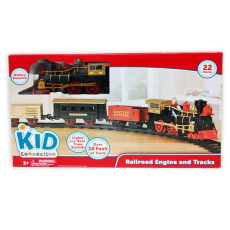 kid connection Railroad Engine And Track Toy Train Set   Walmart Canada