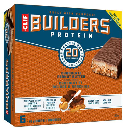 Clif Builder's Protein Bar, Chocolate Peanut Butter, 68g, Non-GMO Bar, 6 Ct - image 1 of 10