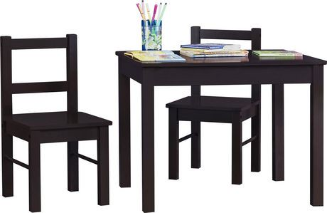 dorel 3 piece kid 39 s wood table and chair set walmart canada. Black Bedroom Furniture Sets. Home Design Ideas