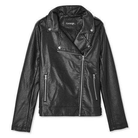 manteau de moto en faux cuir george pour femmes walmart canada. Black Bedroom Furniture Sets. Home Design Ideas