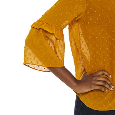 George Women's Ruffle Bell Sleeve Blouse - image 4 of 6