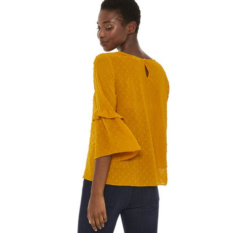 George Women's Ruffle Bell Sleeve Blouse - image 3 of 6