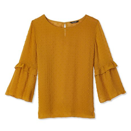 George Women's Ruffle Bell Sleeve Blouse - image 6 of 6