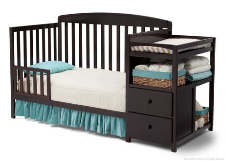 lit pour b b et meuble langer delta children walmart canada. Black Bedroom Furniture Sets. Home Design Ideas