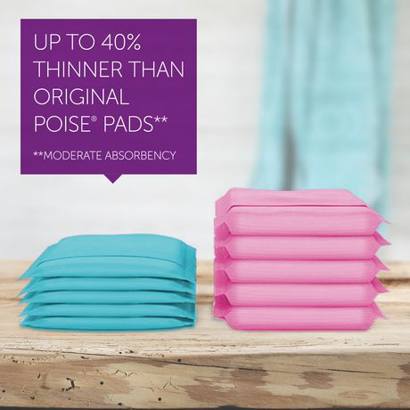 Poise Ultra Thin Incontinence Pads, Moderate Absorbency, Unscented, Regular (20Count) - image 3 of 6