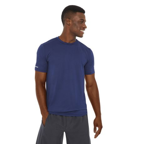 Athletic Works Men's Textured Stretch Tee - image 1 of 6