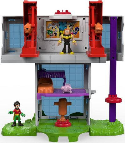 Teen Titans Go Tower Playset Imaginext Robin Mammoth Silkie Figures Projectiles