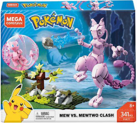 Mega Construx Pokemon Mew vs  Mewtwo Clash Building Set