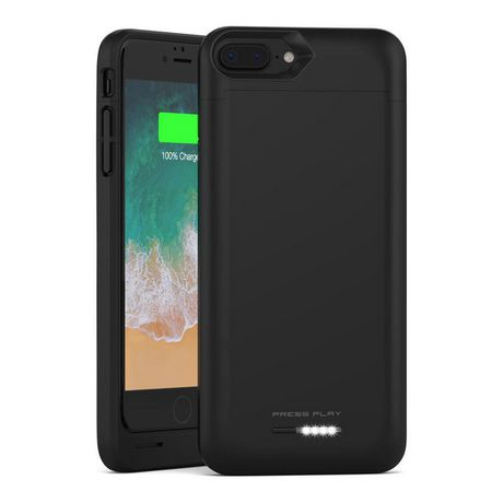 low priced 1c311 9ddb8 Press Play iPhone 8 plus Battery Case with Qi Wireless Charging, (apple  Certified) Press Play Nero 3100mAh Slim Rechargeable Extended Protective ...