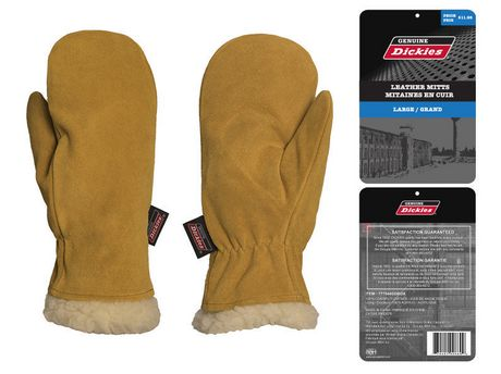 look out for size 7 coupon codes Genuine Dickies Cowsplit Mitts Pile Lined, Brown Sz L | Walmart Canada