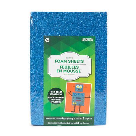 Adhesive Glitter Foam Sheets