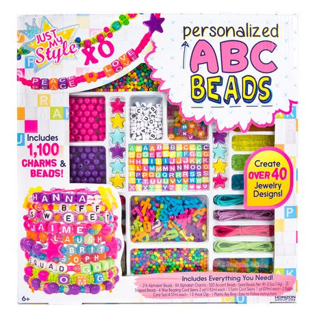 Just my style personalized abc beads kit walmart canada for Jewelry box walmart canada
