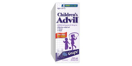 Children's Advil Dye Free Grape 230mL - image 1 de 3