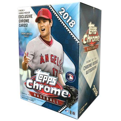 18 Topps Chrome Mlb Baseball Value Box Trading Cards