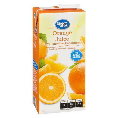 Great Value Orange Juice 1L - image 1 of 2