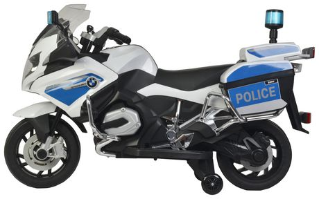 Best Ride on Cars White Bmw Police Bike | Walmart Canada