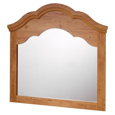 Miroir south shore collection prairie fini pin champ tre for Miroir walmart
