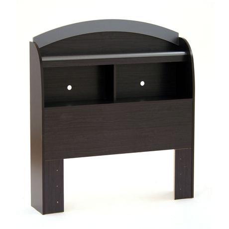 south shore t te de lit biblioth que une place collection soho onyx noir et charbon walmart. Black Bedroom Furniture Sets. Home Design Ideas