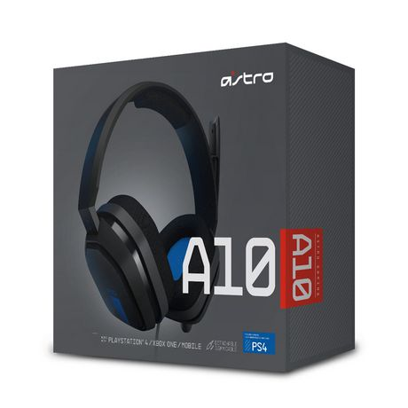 A10 Over Ear Sound Isolating Gaming Headset For Play Station   Grey/Blue by Astro