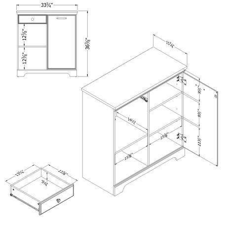 South Shore Versa 1-Door Storage Cabinet - image 3 of 9