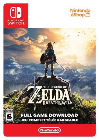 The Legend of Zelda Breath of the Wild video game for Nintendo Switch, with the character Link on the cover