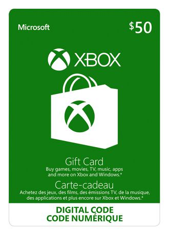 Xbox Live Gift Card $50 CAD Digital Download