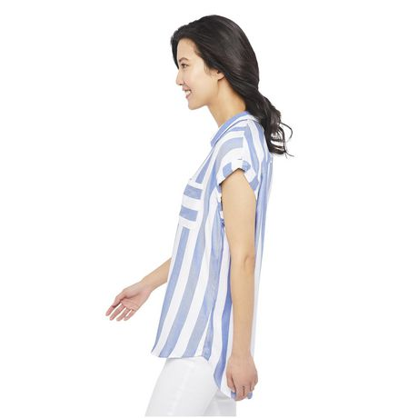 George Women's Dolman Sleeve Pocket Shirt - image 2 of 6
