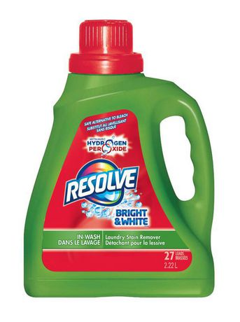 Resolve Bright & White, Laundry Stain Remover: In-Wash Liquid, All Colours, 2.22 L, Safe Alternative to Bleach - image 1 of 2