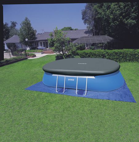 Intex 18 Ft X 10 Ft X 42 In Oval Metal Frame Pool Set