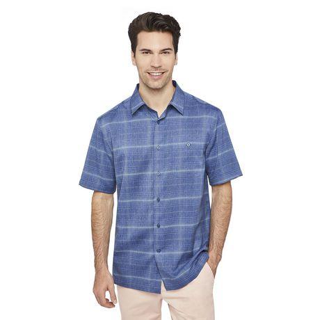23f4bc46d4 George Men's Printed Poplin Shirt