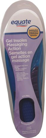 Equate Gel Massaging Action Insoles - image 1 of 1
