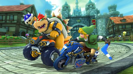 Nintendo Switch w/ Mario Kart 8 Deluxe (Full Game Download) - image 5 of 9
