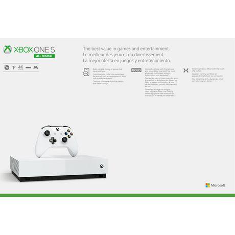 Console Xbox One S 1To à jeux sans disque - image 4 de 4