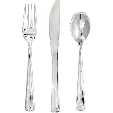 Sensations Silver Plastic Assorted Cutlery  sc 1 st  Walmart Canada & Sensations Silver Plastic Assorted Cutlery | Walmart Canada