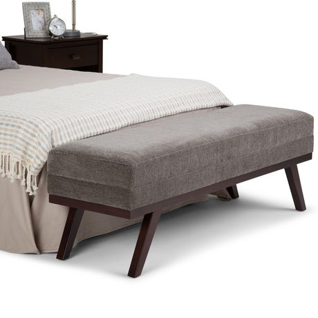 WyndenHall Bryanna Extra WideOttoman Bench in Pewter Fabric - image 2 of 5