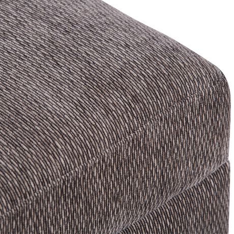 WyndenHall Bryanna Extra WideOttoman Bench in Pewter Fabric - image 3 of 5