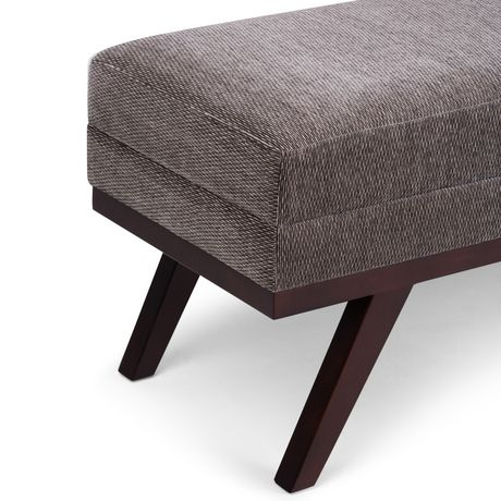 WyndenHall Bryanna Extra WideOttoman Bench in Pewter Fabric - image 4 of 5