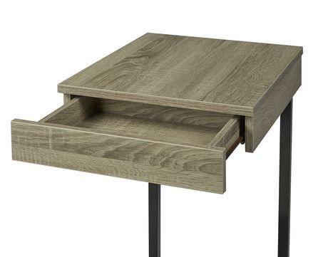 socle d 39 ordinateur portable avec tiroir en taupe fonc de brassex walmart canada. Black Bedroom Furniture Sets. Home Design Ideas