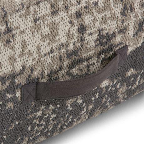 Daryl - Pouf carré à motifs en taupe et gris - image 3 de 5