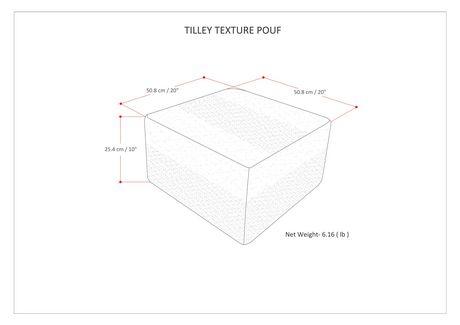 Daryl - Pouf carré à motifs en taupe et gris - image 5 de 5