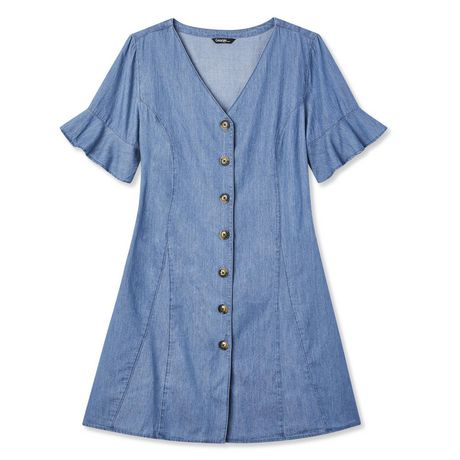 George Ladies Denim Dress - image 1 of 1