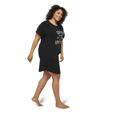 George Plus Women's Graphic Printed Nightshirt - image 2 of 6